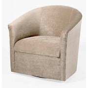 Latitude Run Galen Swivel Barrel Chair; Sand