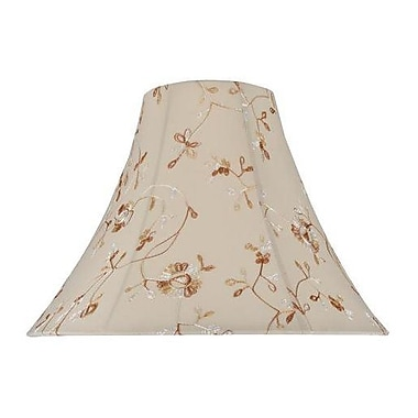 Aspen Creative Corporation 16'' Silk Bell Lamp Shade