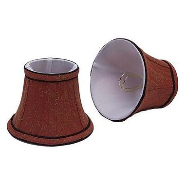 Aspen Creative Corporation 5'' Fabric Bell Candelabra Shade (Set of 2)