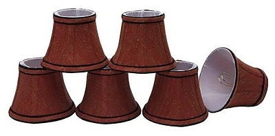 Aspen Creative Corporation 5'' Fabric Bell Candelabra Shade (Set of 6)