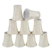 Aspen Creative Corporation 4'' Fabric Bell Candelabra Shade (Set of 9)