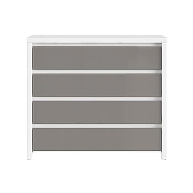 Contemp Style Kaspian 4 Drawer Accent Chest; Gray