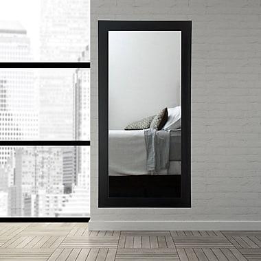 Latitude Run Rectangle Full Body Floor Mirror; Matte Black