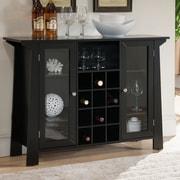 Latitude Run Dufferin Wood Storage 12 Bottle Floor Wine Cabinet
