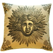 Pillow Decor Sun King Throw Pillow; Beige
