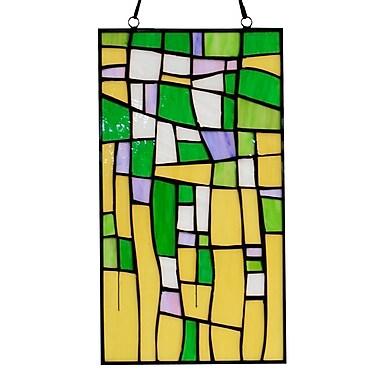 Astoria Grand Tiffany-style Furaha 16-inch Window Panel