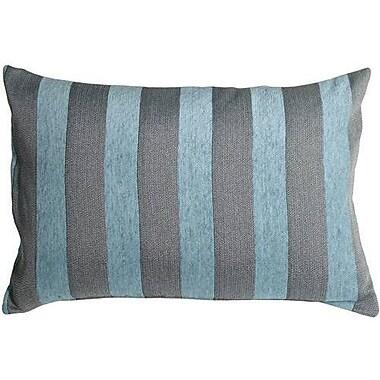 One Allium Way Boutin Stripes Rectangular Lumbar Pillow; Sea Blue