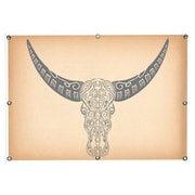 iCanvas 'Longhorn Sugar Skull' Graphic Art Print on Canvas