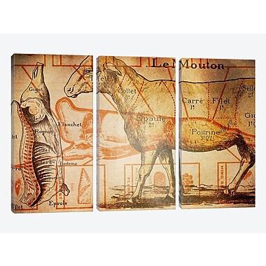 iCanvas 'Le Mouton' Graphic Art Print Multi-Piece Image on Canvas
