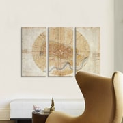 iCanvas 'Map of Imola, 1502' by Leonardo Da Vinci Graphic Art Print Multi-Piece Image on Canvas