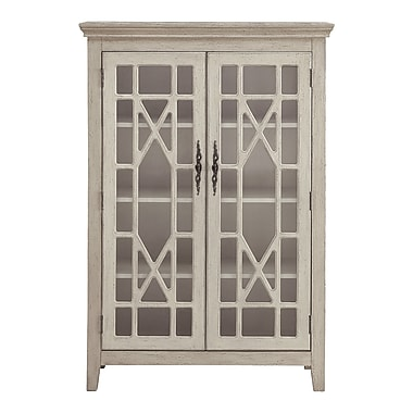 August Grove Jean-Baptiste 52'' Standard Bookcase; Ivory