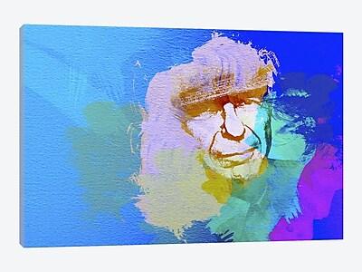 East Urban Home 'Leonard Cohen' Graphic Art Print on Canvas; 12'' H x 18'' W x 0.75'' D