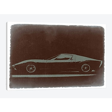 East Urban Home 'Lamborghini Miura' Graphic Art Print on Canvas; 12'' H x 18'' W x 1.5'' D