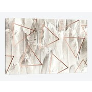East Urban Home 'Copper Feathers' Graphic Art Print on Canvas; 26'' H x 40'' W x 0.75'' D