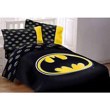 Crover Batman Emblem 3 Piece Reversible Comforter Set