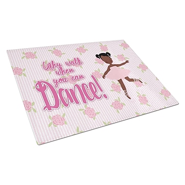 Caroline's Treasures Ballet Dance Glass Pigtails Cutting Board
