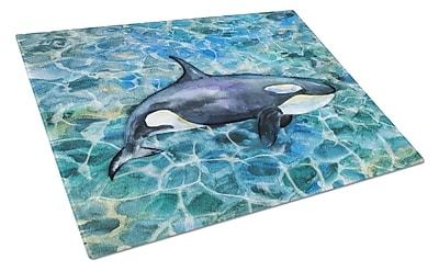 Caroline's Treasures Under Water Glass Killer Whale Orca Cutting Board
