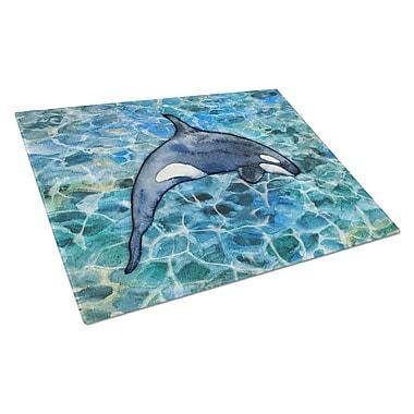 Caroline's Treasures Under Water Glass Killer Whale Orca # Cutting Board