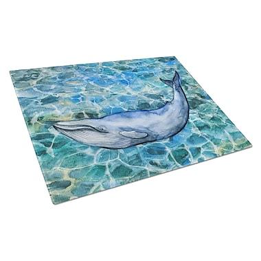 Caroline's Treasures Under Water Glass Humpback Whale Cutting Board