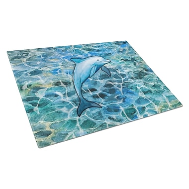 Caroline's Treasures Under Water Glass Dolphin Cutting Board