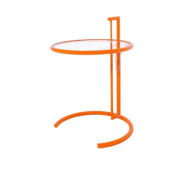 Ivy Bronx Reiser End Table; Orange