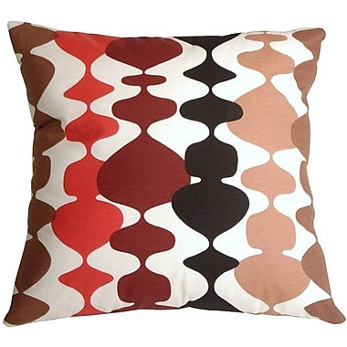 Brayden Studio Vanatta Throw Pillow; Red