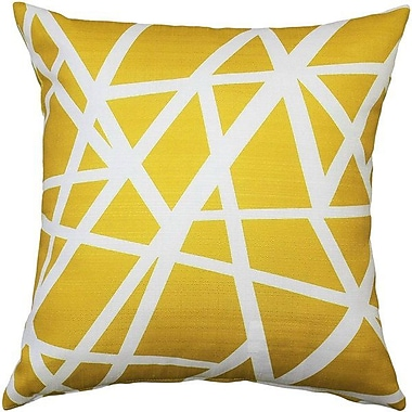 Brayden Studio Vanbrunt Indoor/Outdoor Throw Pillow; Yellow