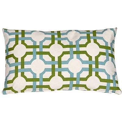 Corrigan Studio Jamaal Groovy Grille Cotton Lumbar Pillow; Confetti