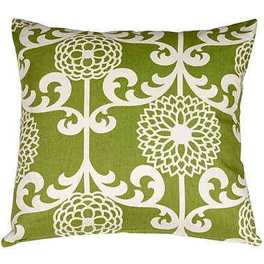 Darby Home Co Roth Floret Cotton Throw Pillow; Spruce
