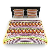 East Urban Home Famenxt 'Colorful Traditional Pattern' Digital Woven Duvet Cover