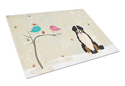Caroline's Treasures Christmas Presents Glass Bernese Mountain Dog Cutting Board
