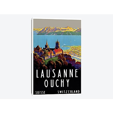 East Urban Home 'Lausanne-Ouchy, Switzerland III' Vintage Advertisement on Canvas