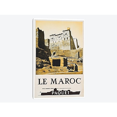 East Urban Home 'Le Maroc (Morocco) I' Vintage Advertisement on Canvas; 26'' H x 18'' W x 1.5'' D