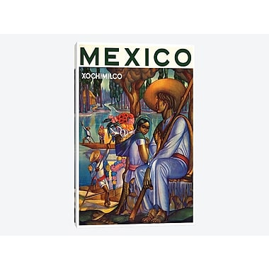 East Urban Home 'Mexico, Xochimilco' Vintage Advertisement on Canvas; 12'' H x 8'' W x 0.75'' D