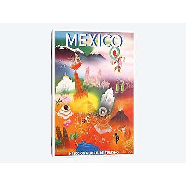 East Urban Home 'Mexico: Tourism III' Vintage Advertisement on Canvas; 26'' H x 18'' W x 0.75'' D