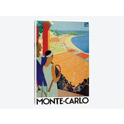East Urban Home 'Monte Carlo' Vintage Advertisement on Canvas; 12'' H x 8'' W x 0.75'' D