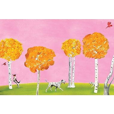 East Urban Home 'Birch Forest' Painting Print on Canvas; 12'' H x 18'' W x 0.75'' D