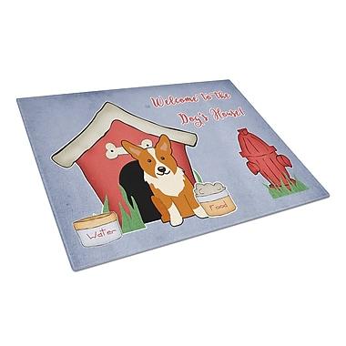 Caroline's Treasures Dog House Glass Corgi Cutting Board