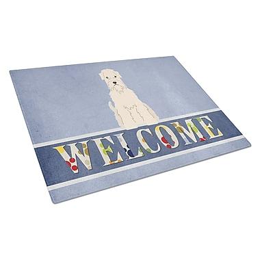 Caroline's Treasures Welcome Dog Glass Soft Coated Wheaten Terrier Cutting Board