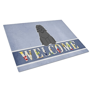 Caroline's Treasures Welcome Dog Glass Bouvier des Flandres Cutting Board