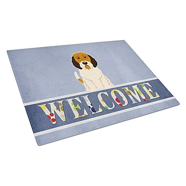 Caroline's Treasures Welcome Dog Glass Petit Basset Griffon Veenden Cutting Board