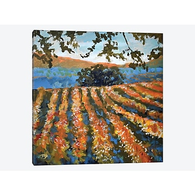 East Urban Home 'Late Afternoon Vineyard' Painting Print on Canvas; 12'' H x 12'' W x 0.75'' D
