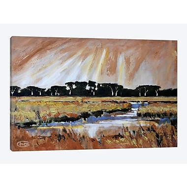 East Urban Home 'Light Over A Marsh' Painting Print on Canvas; 18'' H x 26'' W x 1.5'' D