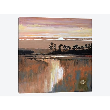 East Urban Home 'Low Country Moonrise' Painting Print on Canvas; 12'' H x 12'' W x 1.5'' D