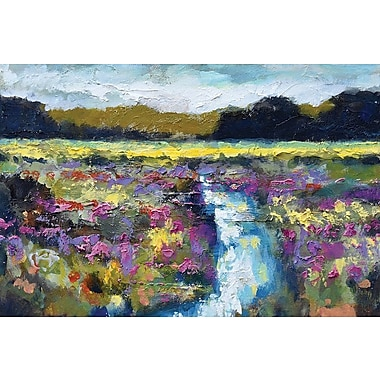 East Urban Home 'Lowland Creek' Painting Print on Canvas; 18'' H x 26'' W x 0.75'' D