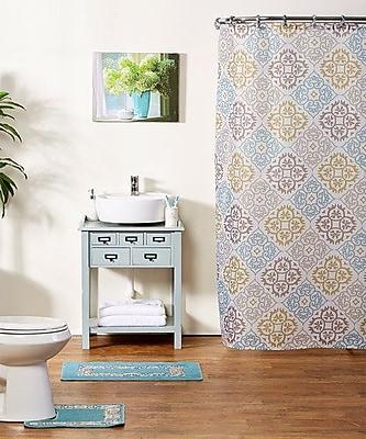 Winston Porter Shari 15-Piece Shower Curtain Set