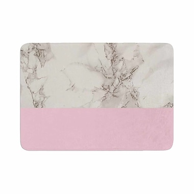 East Urban Home Suzanne Carter Marble and Block Modern Contemporary Memory Foam Bath Rug