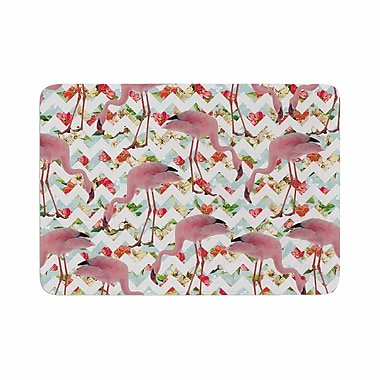 East Urban Home Suzanne Carter Flamingo and Roses Digital Memory Foam Bath Rug