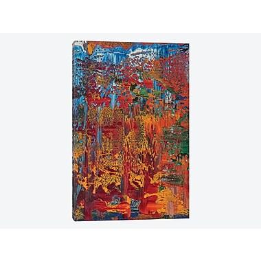 East Urban Home 'Brit Black' Painting Print on Canvas; 18'' H x 12'' W x 1.5'' D
