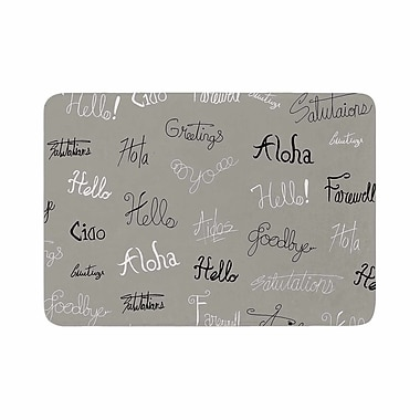 East Urban Home Stephanie Vaeth Hellos and Goodbyes Memory Foam Bath Rug; 0.5'' H x 24'' W x 36'' D